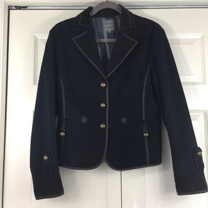Marc Aurel leather trim jacket German designer